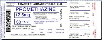 Phenergan Dosage Chart Ndc 33261 865 Promethazine Hydrochloride Promethazine
