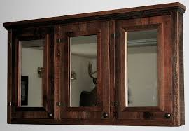 bathroom mirror cabinets rustic. barn-wood-medicine-cabinet-triple-mirror.jpg bathroom mirror cabinets rustic o