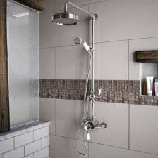 image for edm312 ed101t 200mm traditional exposed thermostatic mixer shower diverter riser set
