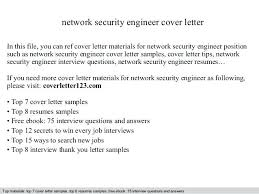 Security Cv Cover Letter Cover Letter Security Engineer Sample