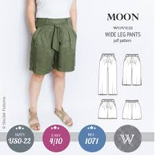 Culottes Pattern Classy Moon Wide Leg Pants Culottes Or Shorts PDF Sinclair Patterns