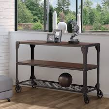 industrial furniture table. Furniture Of America Karina Oak-toned Wood And Metal Industrial-style Sofa Table - Free Shipping Today Overstock 17071954 Industrial