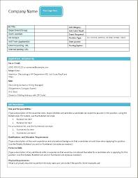 Work Description Form Job Description Form Templates Word Excel Templates Job