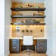 Home office office design ideas small office Small Spaces Small Trendy Builtin Desk Medium Tone Wood Floor Study Room Photo In Salt Lake Houzz 75 Most Popular Small Home Office Design Ideas For 2019 Stylish
