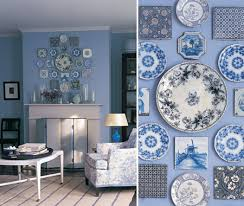 on blue and white wall art with blue white wall art