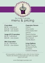 pages menu template cake menu template free cactusdesigners com