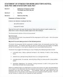 Return To Work Note Resume Template Sample Doctor Release – Template ...