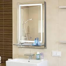 Kleankin Led Badspiegel Badezimmerspiegel Mit Beleuchtung Glas