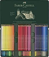 Faber Castell Polychromos Color Chart Faber Castel 110060 Polychromos Colored Pencil Set In Metal Tin 60 Pieces