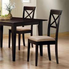 Coaster Hyde Cross Back Dining Chair with Fabric Seat in Cappuccino