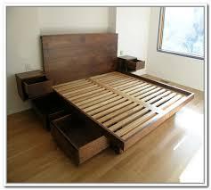 Diy Platform Bed Frame With Storage Bed Storage Best Storage