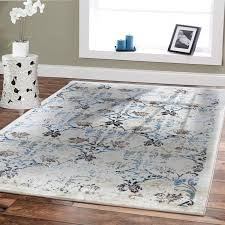 blue bedroom rugs. Interesting Rugs Amazoncom Premium Soft 8x11 Luxury Modern Rugs For Dining Rooms Cream  Blue Beige Brown Ivory Floral Fashion 8x10 Bedroom Room  To E