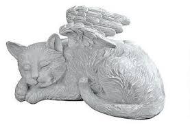 cat angel memorial statue eclectic