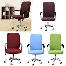chair cover computer chair cover swivel chair seat elastic slipcover 4 colors