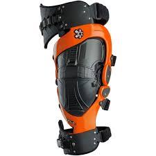Asterisk Cell Knee Brace Pair Orange