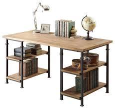 homelegancela inc homelegance factory writing desk in rustic oak desks and hutches