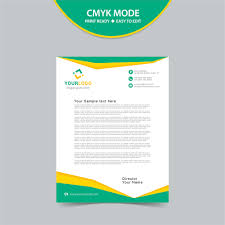 Free Vector Letterhead Template Print Ready Wisxi Com