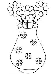 Small Picture Flower Vase Coloring Page Trendy Flowers In Vase Coloring Page