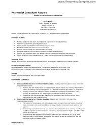 Sample Resume Of Pharmacist Pleasing Sample Resume For D Pharmacist