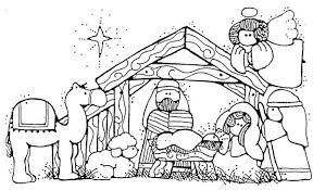 Small Picture Jesus Nativity in Cartoon Depiction Coloring Page Color Luna