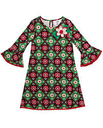 Counting Daisies Girls Printed Knit Dress