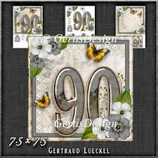 instant card making downloads vintage 90th birthday topper card kit 1192 1 20 instant 90