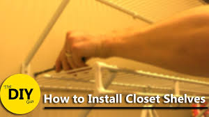 installing closet maid wire shelving