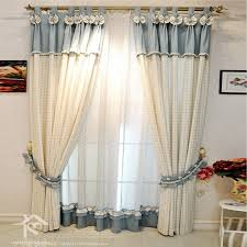 elite beautiful country living room beige and light blue plaid curtains