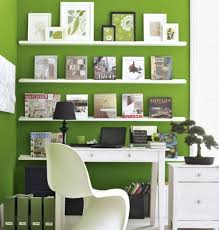 extraordinary home office ideas. Decorations Extraordinary Home Office Decorating Ideas For Small With Green Wall Paint Also Cool White Shelves