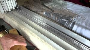 home repairs 8 ft sliding door track repair