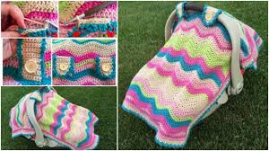 baby car seat cover free crochet
