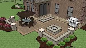 square patio designs. Beautiful Paver Square Patio Unique Fun Family Design With Fire Pit 545 Sq Ft In Designs S .