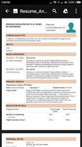 Resume PDF Maker / CV Builder- screenshot