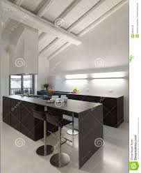Attic Kitchen Modern Kitchen In The Attic Royalty Free Stock Images Image
