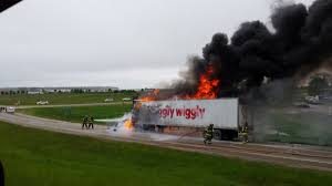 the incident occurred just after 9am on the highway 151 off r at county highway a the piggly wiggly semi
