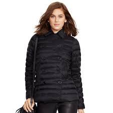 Lyst - Polo ralph lauren Quilted Down Pea Coat in Black & Gallery. Women's Peacoats Women's Quilted Coats Adamdwight.com