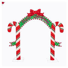 Large Candy Cane Decorations Shop Holiday Living 100' Candy Cane Arch Outdoor Holiday Decoration 94