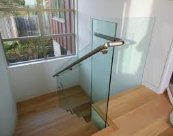 Stairs, Remarkable Glass Railing Cost Cost Of Glass Stair Railing Glass  Railing With Silver Iron