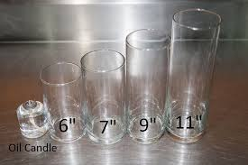 clear glass vase cylinder 6 inch tall