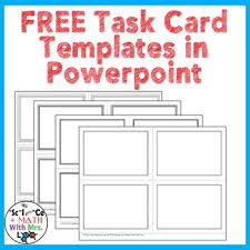 Free Card Templates Free For All Subject Areas Task Cards Resources Lesson Plans