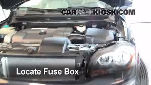 replace a fuse volvo xc volvo xc l cyl locate engine fuse box and remove cover