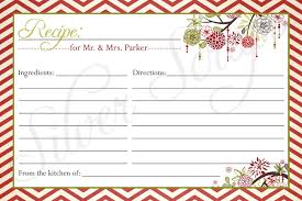 Christmas Recipe Card Christmas Recipe Card Clipart