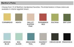 Martha Stewart Paint Sensational Color Paint Brand Guide