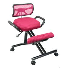 ergonomic kneeling office chairs. Ergonomically Designed Knee Chair With Back And Handle Mesh Fabric Caster Office Kneeling Ergonomic Posture Office-in Chairs From F