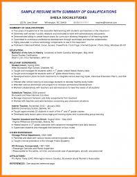 Qualifications Summary Resume Example 24 Summary Of Qualification Resume Examples Ledger Review 19