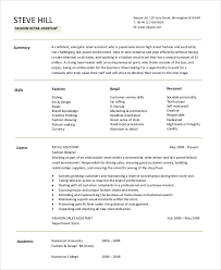 Resume Objective Examples For Retail Retail Resume Objective 5 Examples In Word Pdf