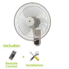 kdk wall fan 16inch with installation remote control