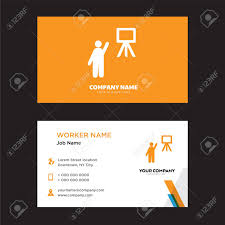 Teacher Business Card Design Template Visiting For Your Company
