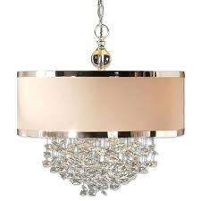 amazing drum chandelier shades aluminum wrapping the edges and crystal ball white shade with crystals top