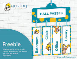 Classroom Hall Pass Kit Quizling The Knowledge Game